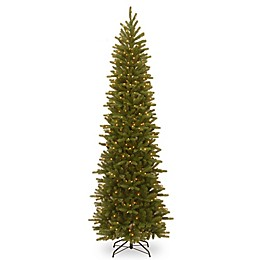 National Tree Company Grand Fir Pencil Slim Pre-Lit Christmas Tree with Clear Lights
