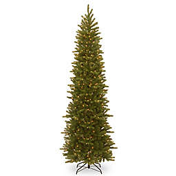 National Tree Company 9' Grand Fir Pencil Slim Pre-Lit Christmas Tree with Clear Lights
