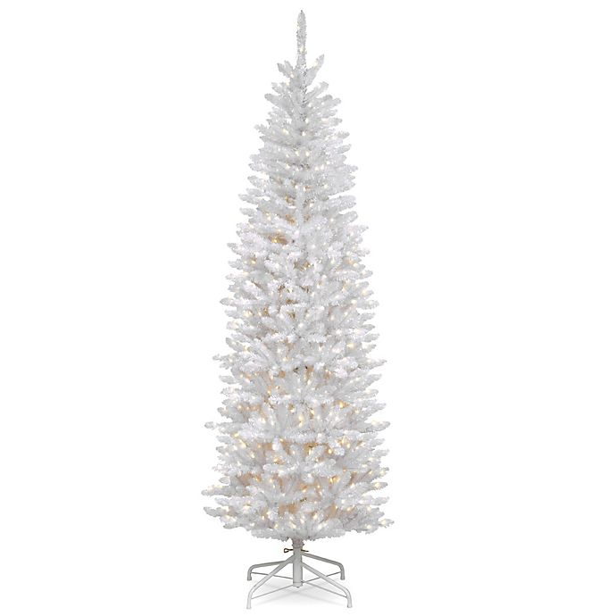Alternate image 1 for National Tree Company Pre-Lit Kingswood White Fir Pencil Artificial Christmas Tree
