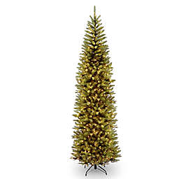 national tree company kingswood fir pencil pre lit christmas tree with clear lights