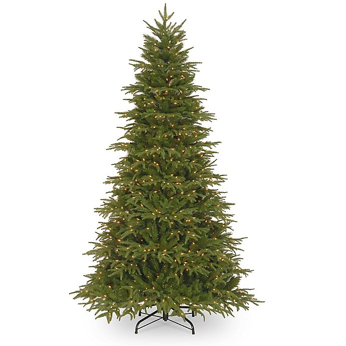 Alternate image 1 for National Tree Company Pre-Lit Feel Real Northern Fraser Fir Artificial Christmas Tree