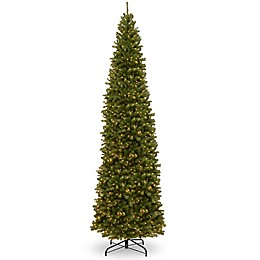 National Tree Company Pre-Lit North Valley Spruce Pencil Slim Artificial Christmas Tree