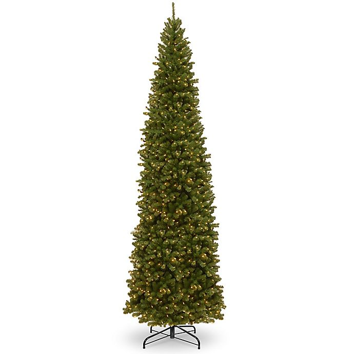 Pencil Christmas Tree.National Tree Company Pre Lit North Valley Spruce Pencil Slim Artificial Christmas Tree