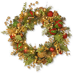 National Tree Company® Pre-Lit LED 30-Inch Decorated Christmas Wreath