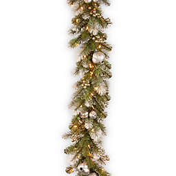 National Tree Company 9-Foot Pre-Lit Glittery Pomegranate Garland