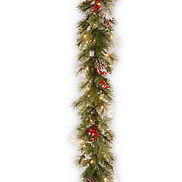 National Tree Company 9-Foot Pre-Lit Wintry Berry Garland