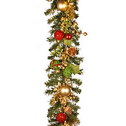 National Tree Company® Pre-Lit LED 72-Inch Decorated Christmas Garland