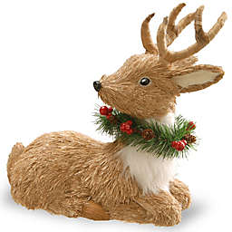 National Tree Company 13-Inch Resting Reindeer Holiday Decoration in Brown