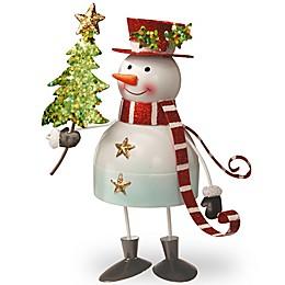 National Tree Company 10-Inch Metal Bobble Snowman Christmas Decoration