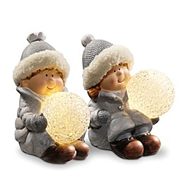 National Tree Company Lighted Boy and Girl Decoration