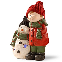 National Tree Company Lighted Boy and Snowman Decoration