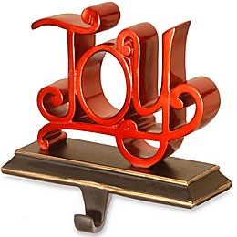 "National Tree Company ""Joy"" Stocking Holder in Red"