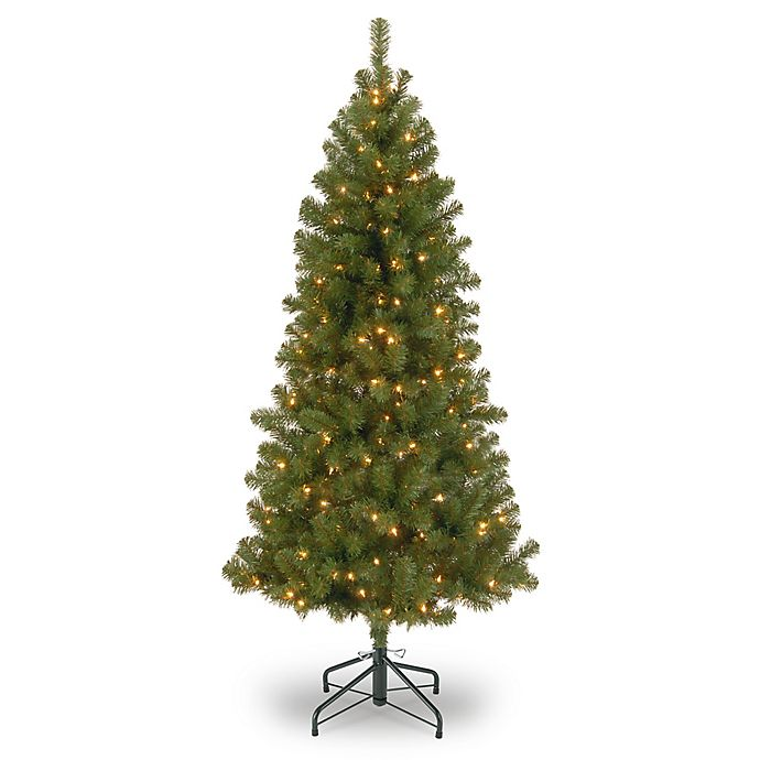 Alternate image 1 for National Tree Company 7-Foot Pre-Lit Canadian Grande Fir Artificial Christmas Tree