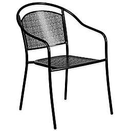 Flash Furniture All-Weather Arm Chair with Round Back