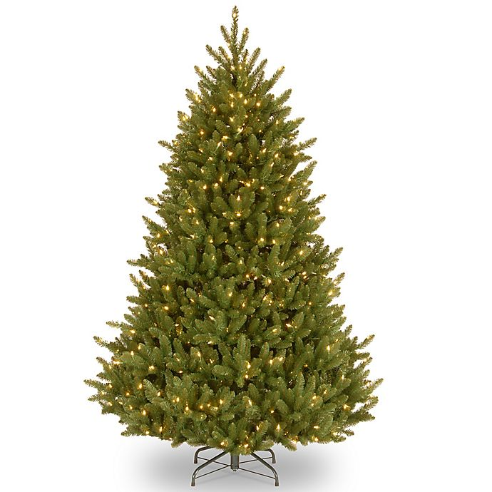 Alternate image 1 for National Tree Company Natural Fraser Fir Pre-Lit Slim Christmas Tree w/Clear Lights