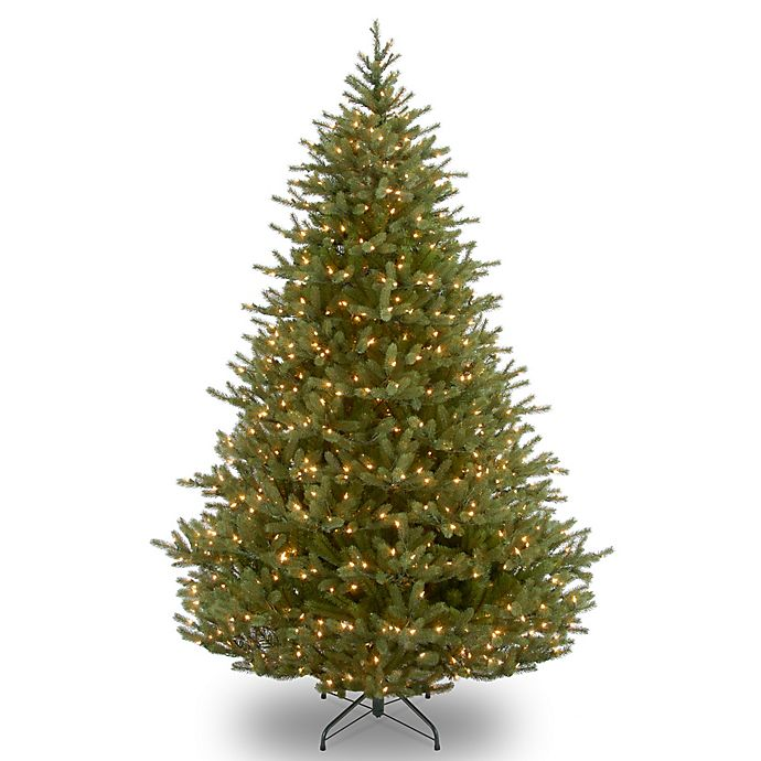 Alternate image 1 for National Tree Company Noble Fir Pre-Lit Christmas Tree with Clear Lights