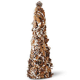 National Tree Company 22-Inch Pinecone Tree in Brown/White