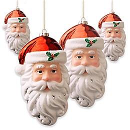 National Tree Company 10-Inch Santa Ornaments (Set of 4)