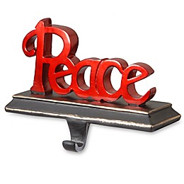 "National Tree Company 9-Inch ""Peace"" Stocking Holder in Red"