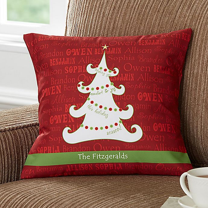 Alternate image 1 for Christmas Tree 14-Inch Square Throw Pillow