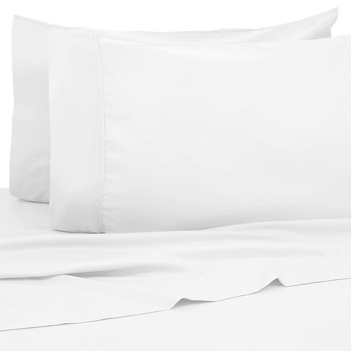 Alternate image 1 for Kathy Ireland® Home 1200-Thread-Count Queen Sheet Set in White