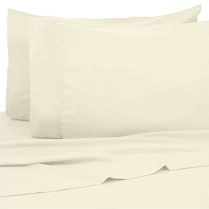 Alternate image 1 for Kathy Ireland® Home 1200-Thread-Count King Sheet Set in Ivory