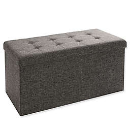 Seville Classics Foldable Storage Bench/Ottoman