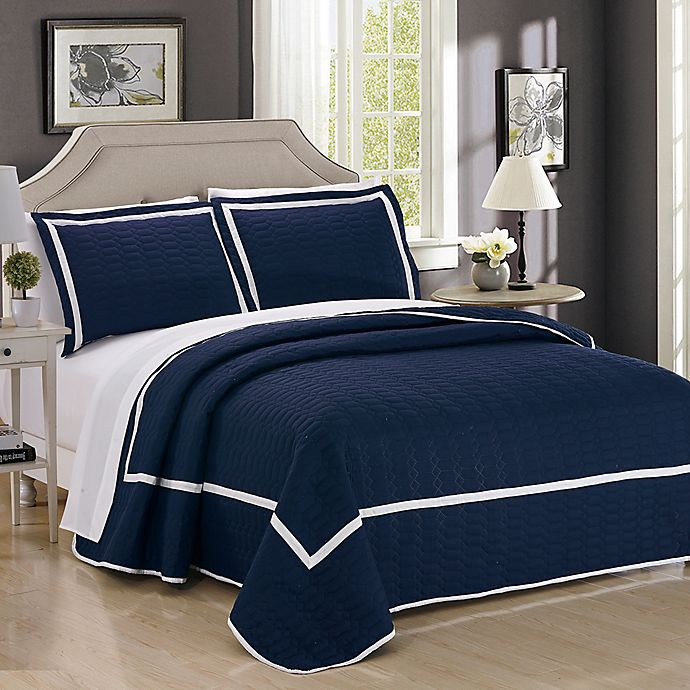 Alternate image 1 for Chic Home Halrowe 3-Piece Reversible Quilt Set