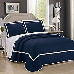 Chic Home Halrowe 3-Piece Reversible Quilt Set