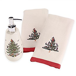 Avanti Spode Tree 3-Piece Fingertip Towel and Lotion Holder Set