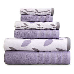 Pacific Coast Textiles 6-Piece Organic Vines Towel Set