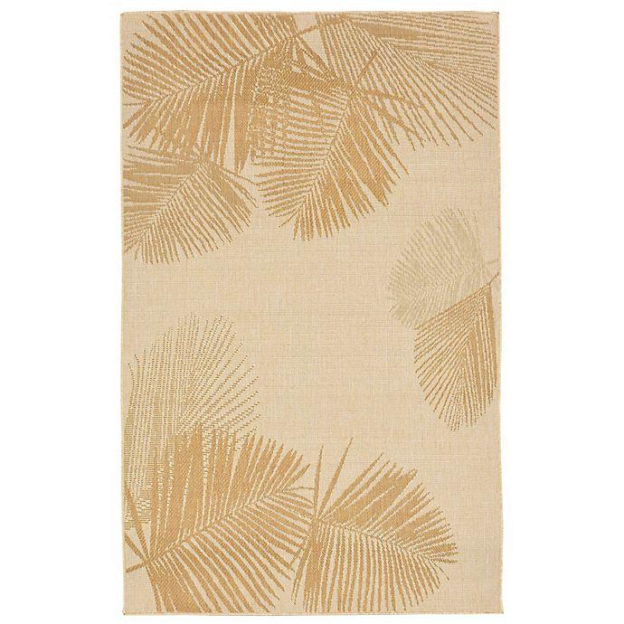 Alternate image 1 for Liora Manne Terrace Palm Indoor/Outdoor Rug in Natural