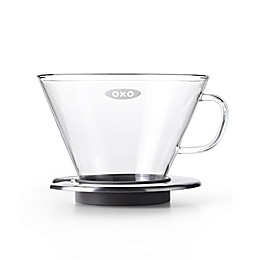 OXO Good Grips® Glass Pour Over Dripper in Steel