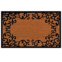 Home & More Chateaux 18-Inch x 30-Inch Door Mat in Natural/Black