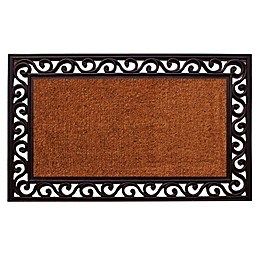 Home & More Rembrandt 22-Inch x 36-Inch Door Mat in Natural/Black