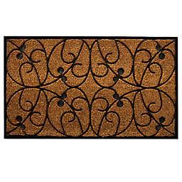 Home & More Applegate 24-Inch x 36-Inch Door Mat in Natural/Black