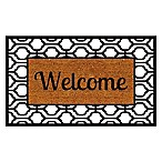 Home & More Branson Welcome 24-Inch x 36-Inch Door Mat in Natural/Black