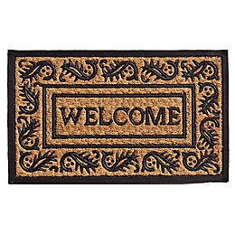 Home & More Border Welcome 18-Inch x 30-InchDoor Mat in Natural/Black