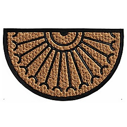 Home & More Celeste 18-Inch x 30-Inch Door Mat in Black/Natural