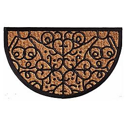 Home & More Fantasia 18-Inch x 30-Inch Door Mat in Natural/Black