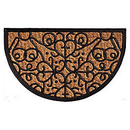 Home & More Fantasia 18-Inch x 30-Inch Door Mat in Natural/Black