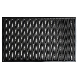 Home & More True Step Wave 18-Inch x 30-Inch Rubber Door Mat