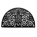 Home & More Pineapple Grandeur 18-Inchy x 30-Inch Rubber Door Mat in Black