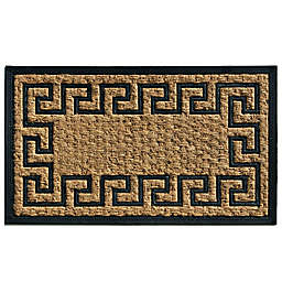 Home & More Express 18-Inch x 30-Inch Door Mat in Black/Natural