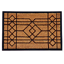 Home & More Windgate 24-Inch x 36-Inch Door Mat in Natural/Black