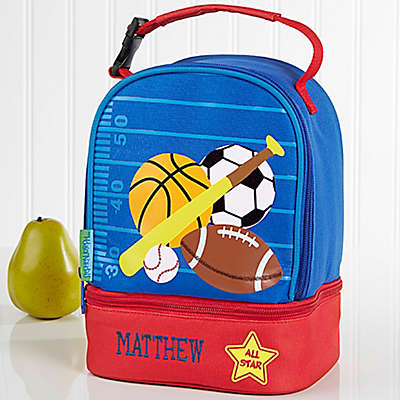 Stephen Joseph® Embroidered All Star Lunch Bag in Blue
