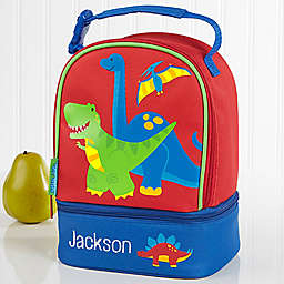 Stephen Joseph® Embroidered Dino Lunch Bag in Red