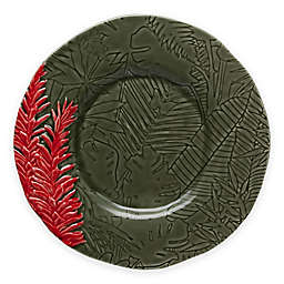 Bordallo Pinheiro Vista Alegre Tropical Red Ginger Dessert Plates (Set of 4)
