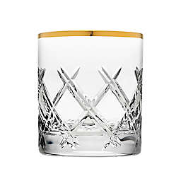 Top Shelf Bevel Double Old Fashioned Glasses in Gold (Set of 4)