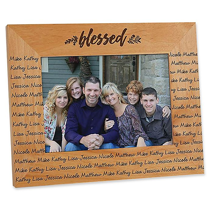 Alternate image 1 for Cozy Home Repeating Name 5-Inch x 7-Inch Picture Frame